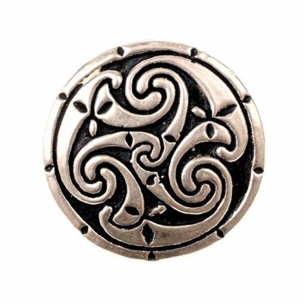 Celtic ring med triskelionen, brons