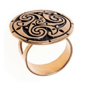 Celtic Ring mit triskelion, Bronze