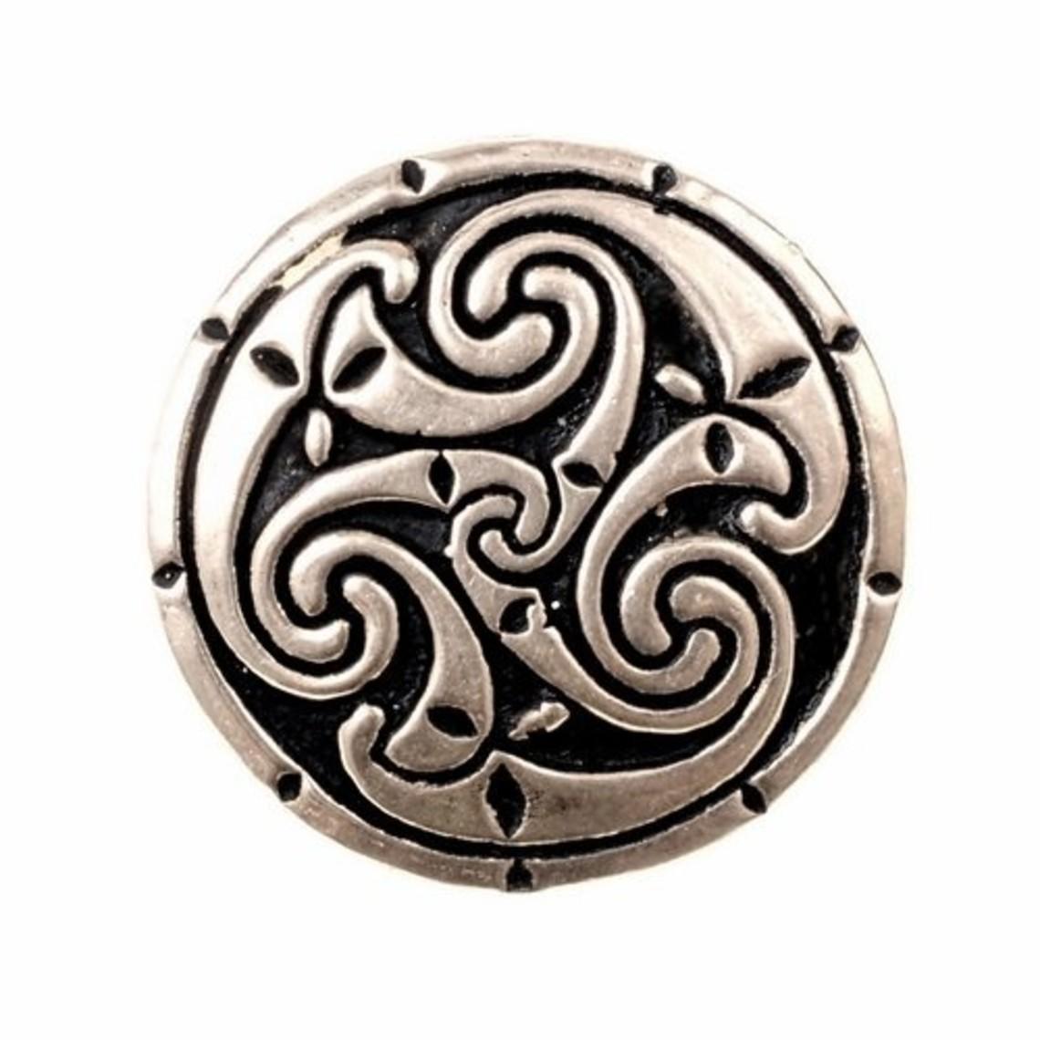Celtic Ring mit triskelion, versilbert