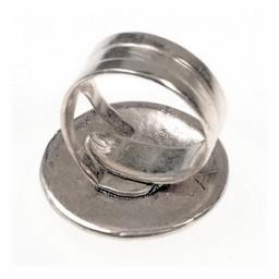 Celtic Ring mit Knotenmotiv, Bronze versilbert