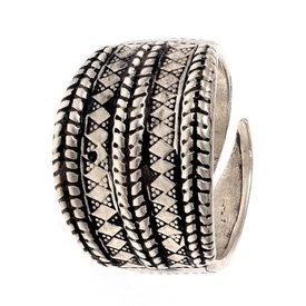 Nono-decimo secolo vichingo anello Gotland, argentato