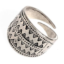 Rusvik pierścień Novgorod srebrnej brązu