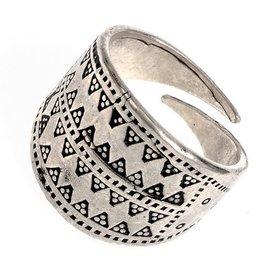 Rusvik ring Novgorod, silvered bronze