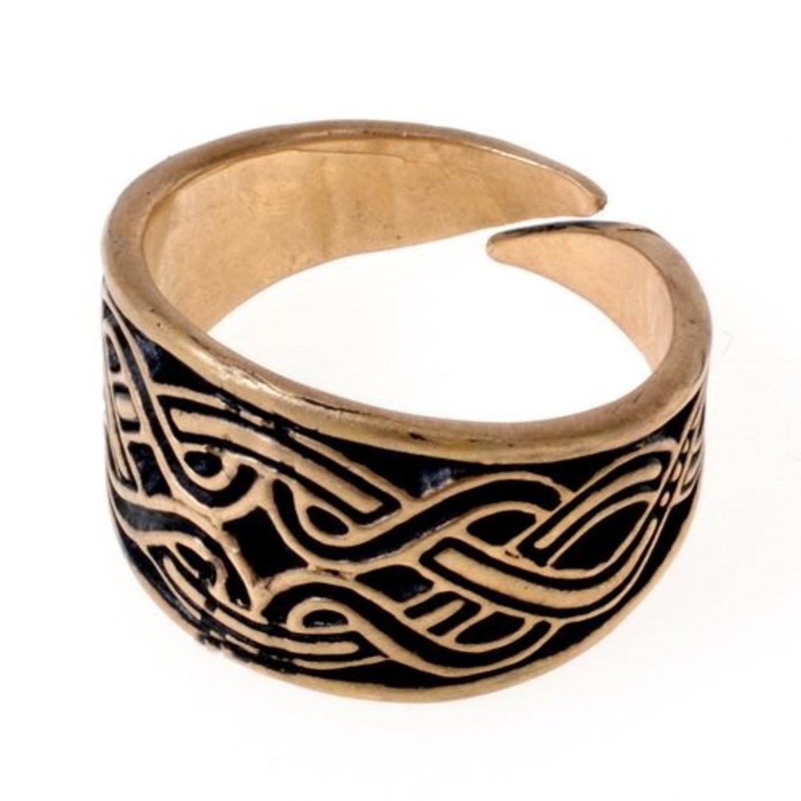 Magyar anillo con motivo de nudo, de bronce