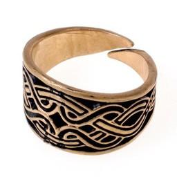 Magyar Ring mit Knotenmotiv, Bronze