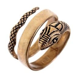 Roman Schlange Ring, Bronze