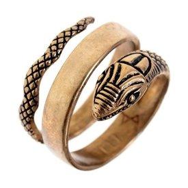 anillo de serpiente romana, bronce