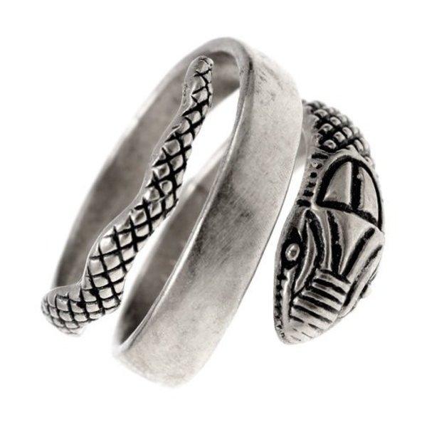 Romersk slange ring, forsølvet bronze
