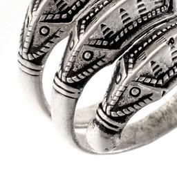 Eisenzeit Ring Himlingoje, versilbert