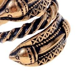 Germanic Iron Age ring Naustdal, bronze