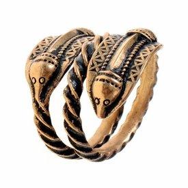 Germański epoki żelaza pierścień Naustdal, brąz