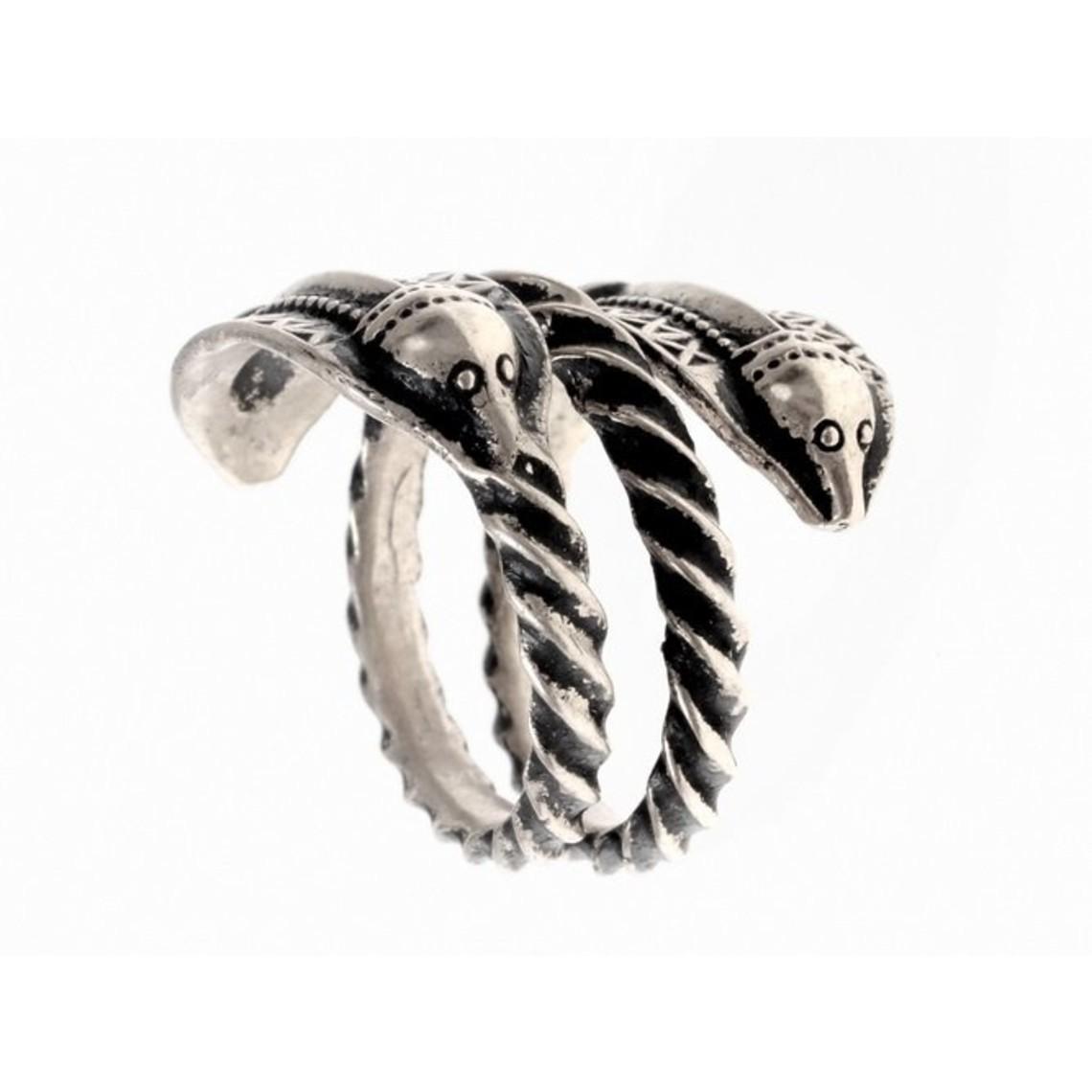 Germański epoki żelaza pierścień Naustdal, posrebrzane
