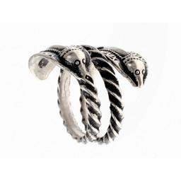 Germanic Iron Age ring Naustdal, silvered