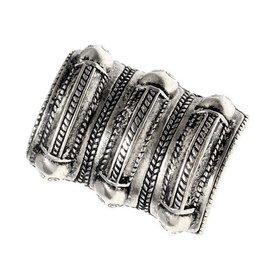 Germanic Iron Age ring Segerstad, silvered