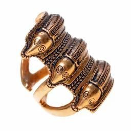 Germański epoki żelaza pierścień Segerstad, posrebrzane
