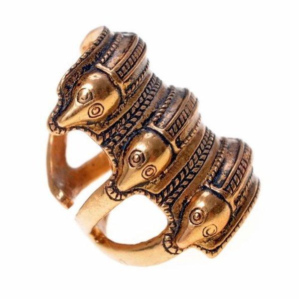 Edad del Hierro germánica anillo Segerstad, plateado