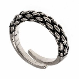 9th-10th century Viking ring, silvered