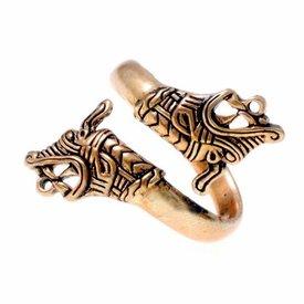 Viking pierścień Haithabu brązu