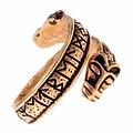 Rung Ring mit Wolfsköpfen, Bronze