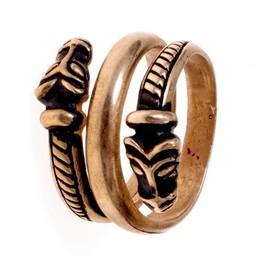 Luksusowy pierścień Islandii Viking brązu