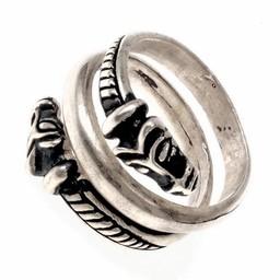 Lyxiga Island Viking ring, försilvrad