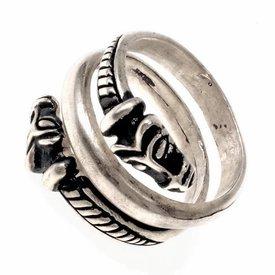 Islandia lujoso anillo de Viking, plateado