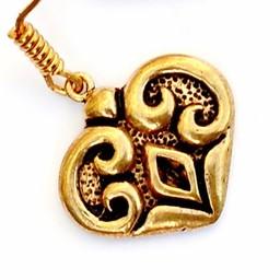 Magyar earrings, bronze