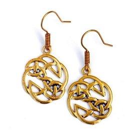 pendientes de nudos celtas, bronce