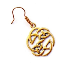 Celtic knot earrings, bronze