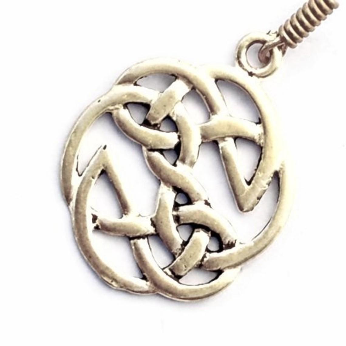 orecchini nodo celtico, argentato