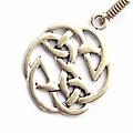 Celtic knot earrings, silvered