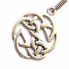 Keltischer Knoten Ohrringe, versilbert
