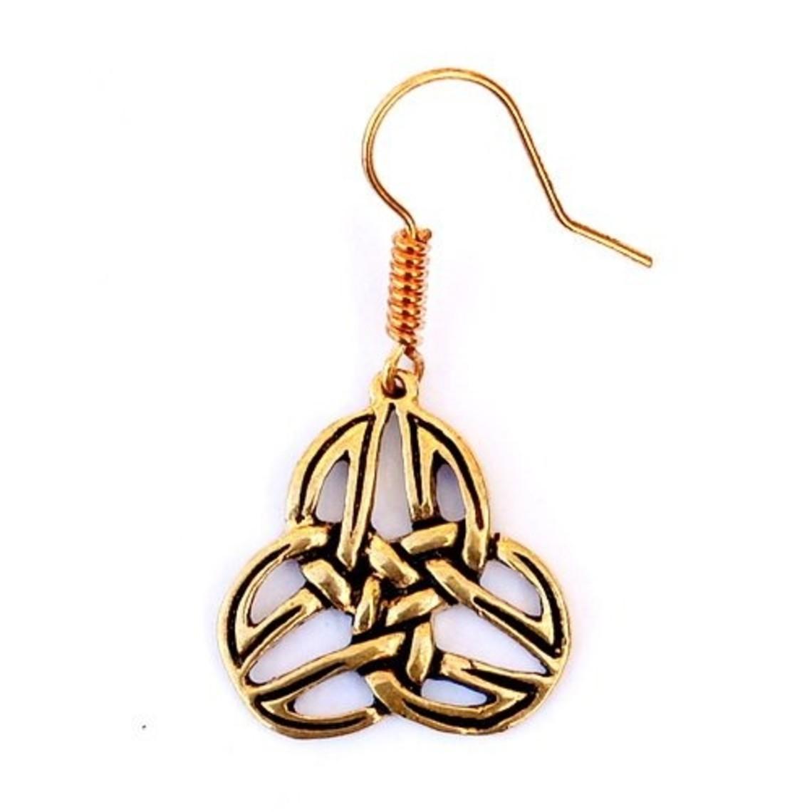 trisquelion celtica orecchini Mabinnogion, bronzo
