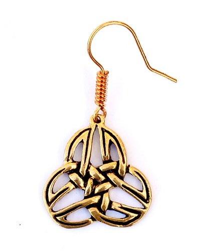 Celtic trisquelion earrings Mabinnogion, bronze