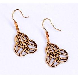 trisquelion celtique boucles d'oreilles Mabinnogion, bronze