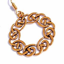 Oorbellen Keltische krans, brons