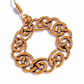 Earrings Celtic wreath, bronze