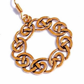 Pendientes corona celta, bronce