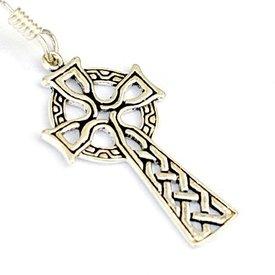 Boucles d'oreilles avec croix celtique, bronze