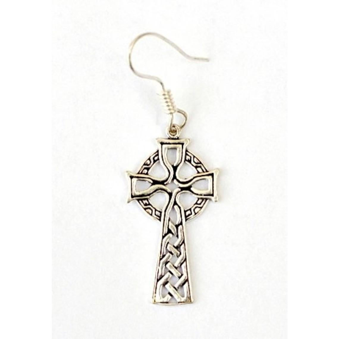 Pendientes con cruz celta, bronce