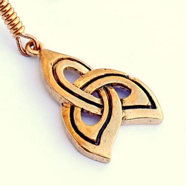 Celtic örhängen trisquelion, brons