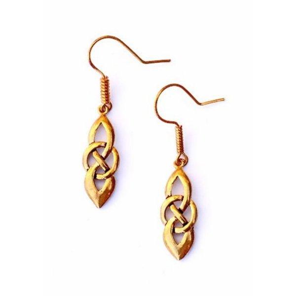 Keltische oorbellen Dagda, brons