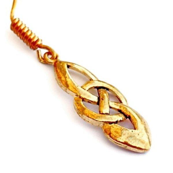 Celtic örhängen Dagda, brons