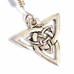 Celtic örhängen triquetra, försilvrade
