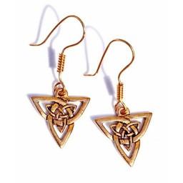 orecchini celtici triquetra, bronzo