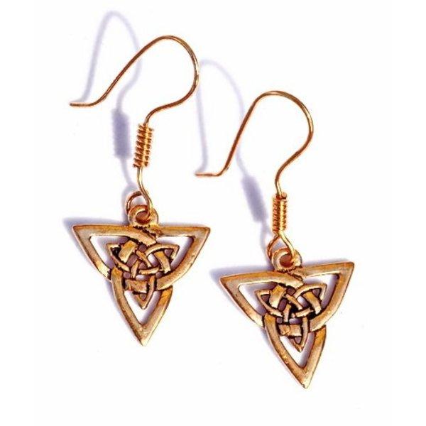 Celtic Ohrringe triquetra, Bronze
