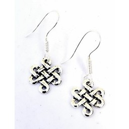 Celtic earrings Lugh, silvered