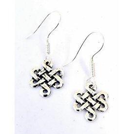 Boucles d'oreilles celtiques Lugh, SILVERED
