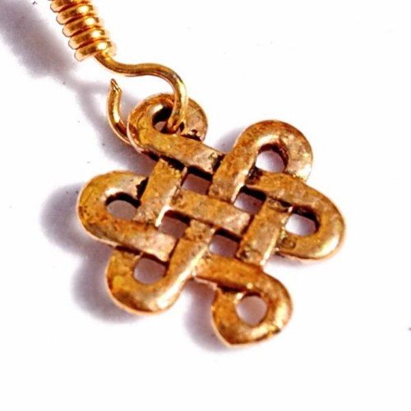 Celtic earrings Lugh, bronze