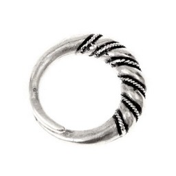 Viking Ring Danelaw, versilbert